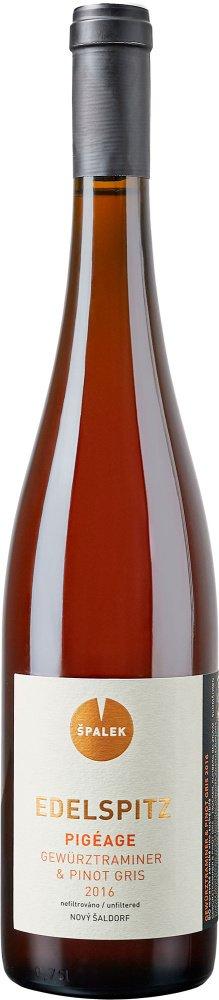 Špalek Edelspitz PIGEAGE Gewurztraminer - Pinot Gris, BIO 0,75L, r2016, vin, bl, su