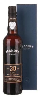 Blandy's Madeira Bual 30 Y.O. Medium Rich 0,5L, fortvin, bl, sl, DB