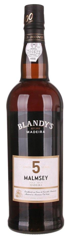 Blandy's Madeira Malmsey 5 Y.O. Doce Rich 0,75L, fortvin, bl, sl
