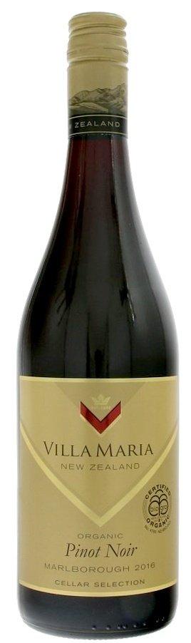 Villa Maria Cellar Selection Pinot Noir Organic 0,75L, r2016, cr, su