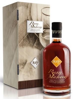 Malecon Seleción Esplendida 40% v drevenom boxe 0,7L, r1987, rum, DB