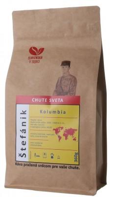 SLOVENSKO V SRDCI káva Štefánik - Kolumbia 100% arabika 360 g,zrn,
