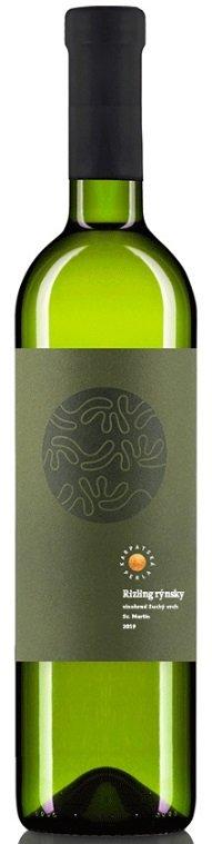 Karpatská Perla Rizling rýnsky Suchý vrch 0,75L, r2019, vin, bl, su