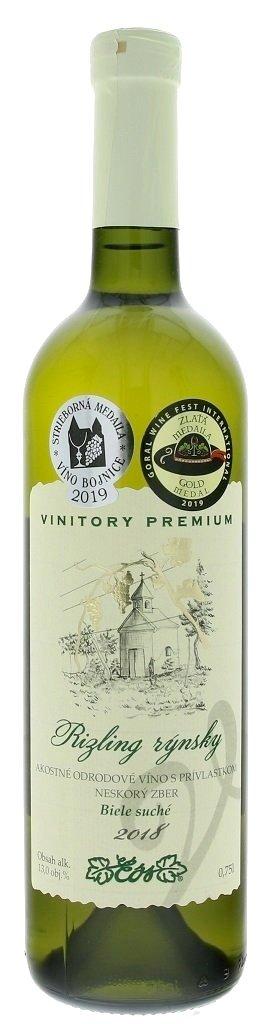 VVD Vinitory Premium Rizling rýnsky 0,75L, r2018, nz, bl, su