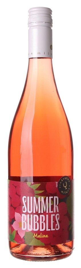 Miluron Summer Bubbles Malina 0,75L, sytper, ruz, plsl, sc