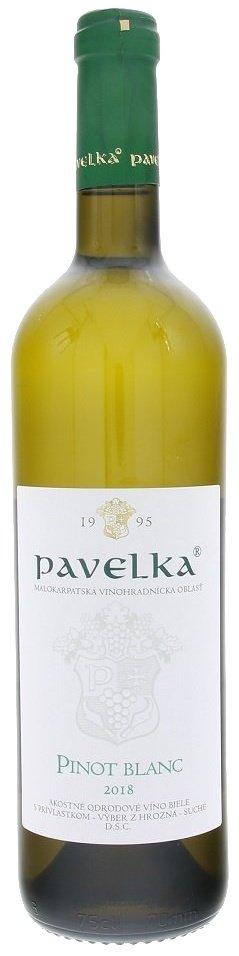 Pavelka Pinot blanc 0,75L, r2018, vzh, bl, su