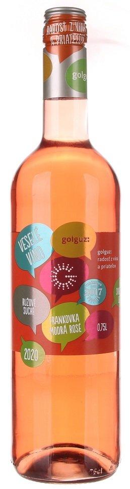 Golguz Veselé víno Frankovka modrá rosé 0,75L, r2020, ak, ruz, su, sc