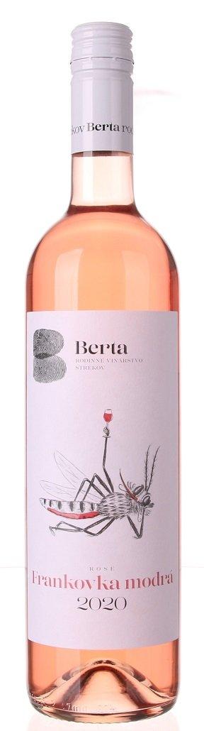 Berta Frankovka modrá Rosé 0,75L, r2020, ak, ruz, plsu, sc