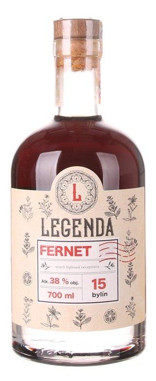 Legenda Fernet bylinný likér 38% 0,7L, liker