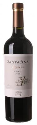 Santa Ana Reserve Malbec 0,75L, r2020, cr, su