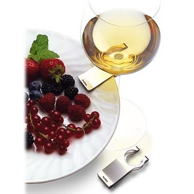 Pulltex Wine clip, spona na uchytenie pohára k tanieru