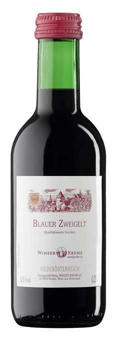 Winzer Krems Blauer Zweigelt 0,25L, PDO, rNV, cr, su