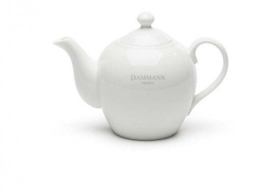 Dammann Fréres Čajník 0,5L, biely s logom Dammann  1466