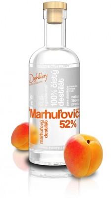 Fine Destillery Slovakia Marhuľovica Exclusive alk. 52% 0,5L, ovdest