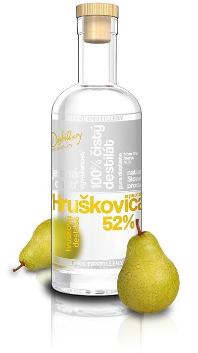 Fine Destillery Slovakia Hruškovica Exclusive alk. 52% 0,5L, ovdest