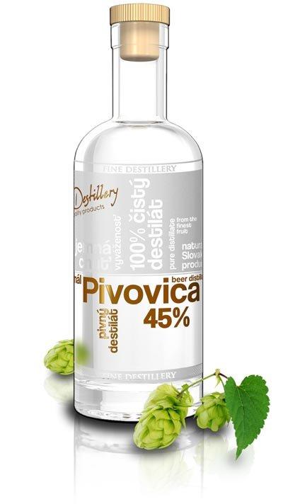 Fine Destillery Slovakia Pivovica Exclusive alk. 45% 0,5L, destin