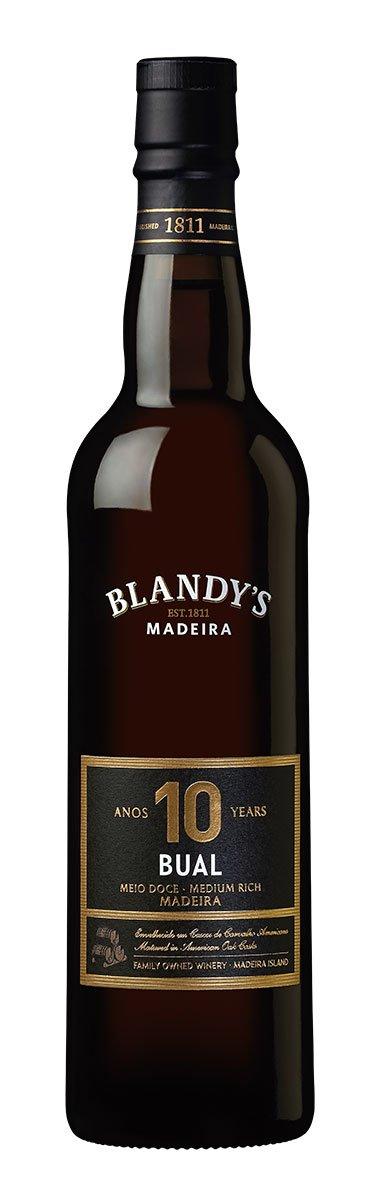 Blandy's Madeira Bual 10 Y.O. Medium Rich 0,5L, fortvin, bl, sl