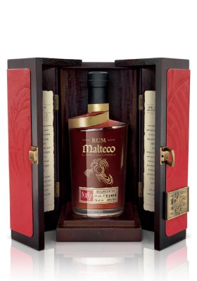 Malteco Selección 40% v drevenom boxe 0,7L, r1987, rum, DB