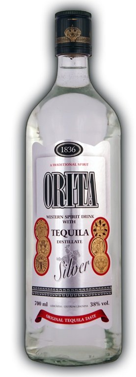 Orita Silver Tequila 38% 0,7L, tequila