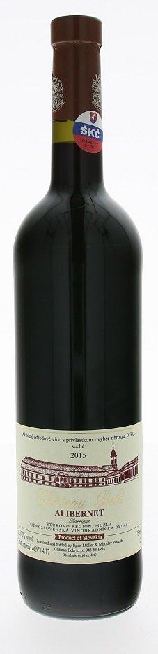 Château Belá Alibernet 0,75L, r2015, vzh, cr, su