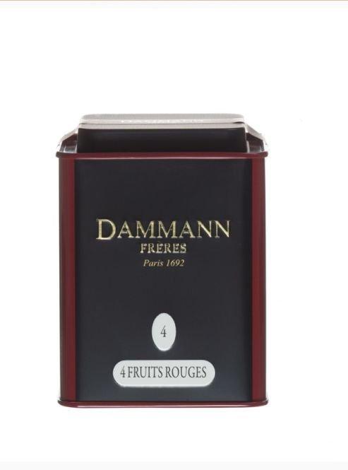 Dammann Fréres La Boite 4 fruits rouges, N°4, ochutený, 100 gr.  6749,ciercaj, plech