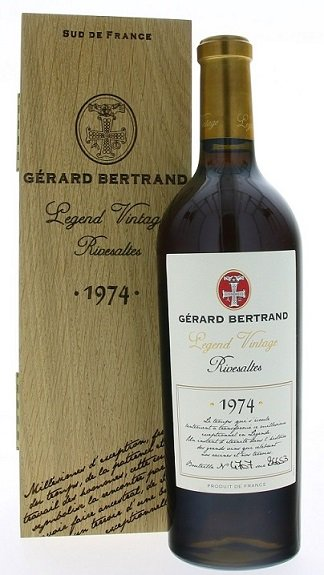 Gérard Bertrand Legend Vintage Rivesaltes 0,75L, AOC, r1974, fortvin, cr, sl, DB