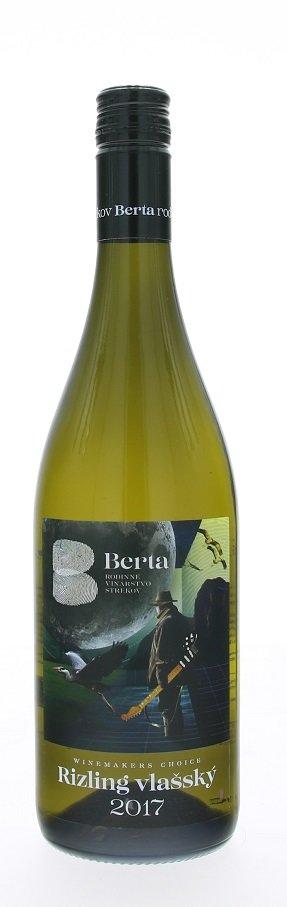 Berta Winemakers Choice Rizling vlašský 0,75L, r2017, ak, bl, plsu