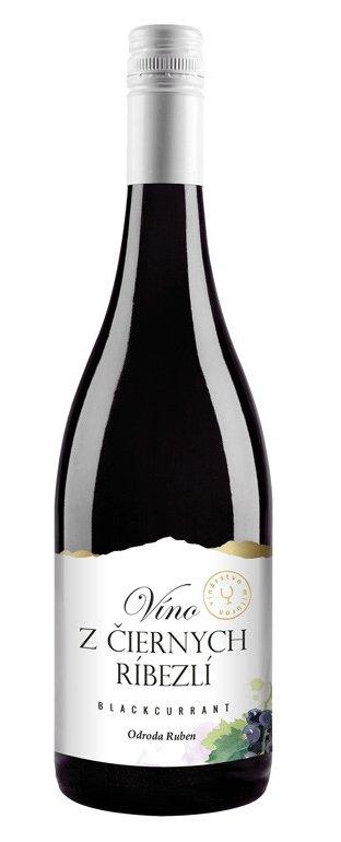 Miluron Víno z čiernych ríbezlí - ríbezľové víno 0,75L, ovvin, cr, sl