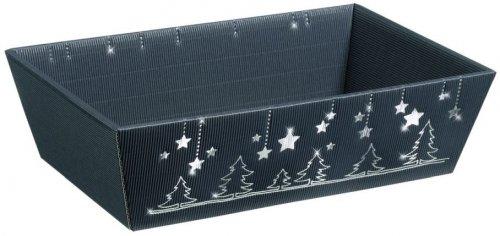 Darčekový kôš Weihnachtsglanz 4-uholník, stredný, 336x196x110 mm