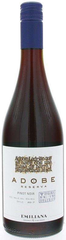Emiliana Adobe Pinot Noir BIO 0,75L, r2017, cr, su