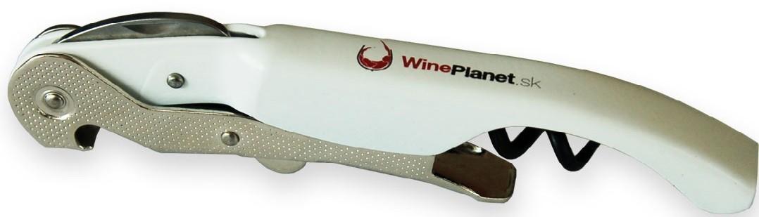 Pulltex Pullparrot - biela vývrtka s logom WinePlanet