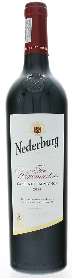 Nederburg Winemasters Cabernet Sauvignon 0,75L, r2017, cr, su
