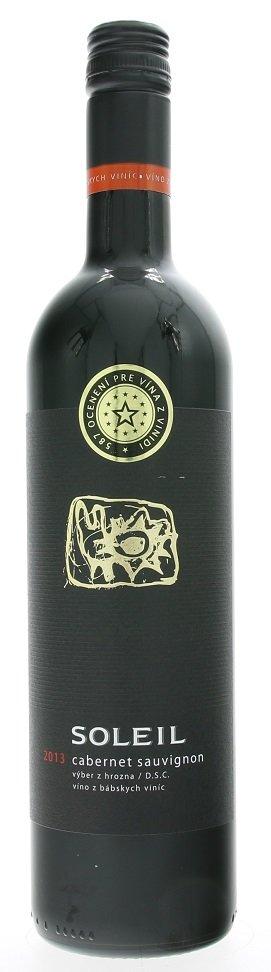 Vinidi Soleil Cabernet Sauvignon 0,75L, r2013, vzh, cr, su, sc
