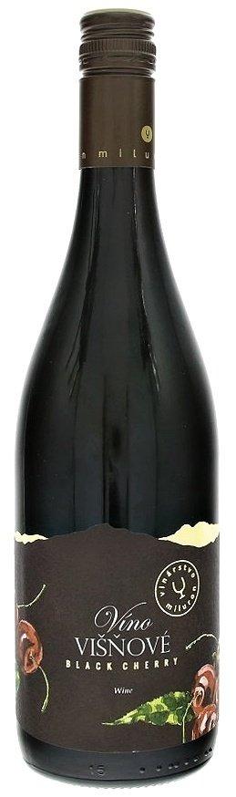 Miluron Víno Višňové Black Cherry 0,75L, ovvin, cr, sl, sc