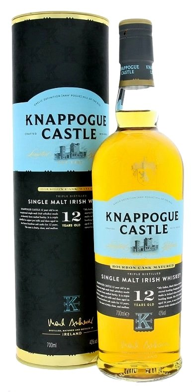 Knappogue Castle 12YO Irish whisky 43,0% 0,7L, whisky, DB