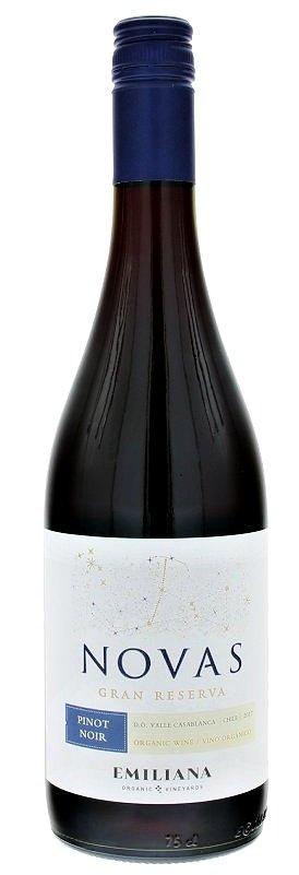 Emiliana Novas Pinot Noir, Gran Reserva, BIO 0,75L, r2017, cr, su