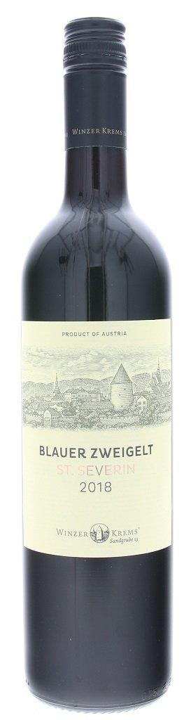Winzer Krems Blauer Zweigelt St.Severin 0,75L, PDO, r2018, cr, su, sc